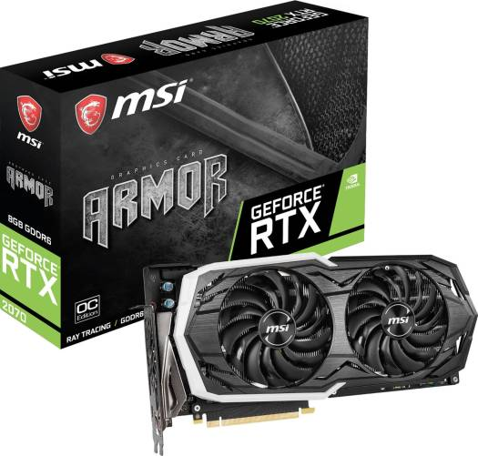 MSI GeForce RTX 2070 ARMOR 8G OC 256-bit 8GB GDDR6 PCIe x16 3.0 DP/HDMI/USB  Graphics Card | 912-V373-013