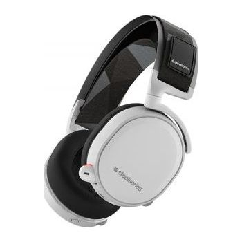 SteelSeries Arctis 7 (2019 Edition) Lossless Wireless Gaming Headset with DTS Headphone:X v2.0 Surround for PC and PlayStation 4, White | 61508
