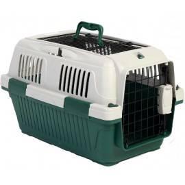 Nutra Pet Dog & Cat Carrier Open Grill Top Dark Green Box L50Cms X W33Cms X H29Cms