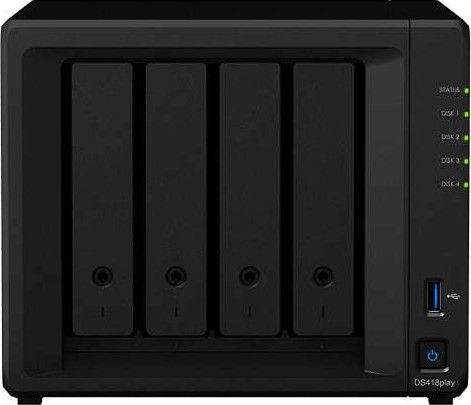 Synology DiskStation DS418play 4 Bay NAS Enclosure DS418play