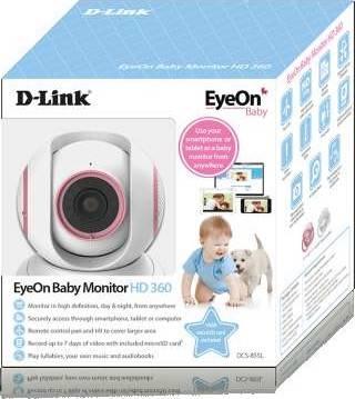 D-link EyeOn Pan/Tilt Wifi Baby Monitor HD 360 Camera | DL-DCS855L