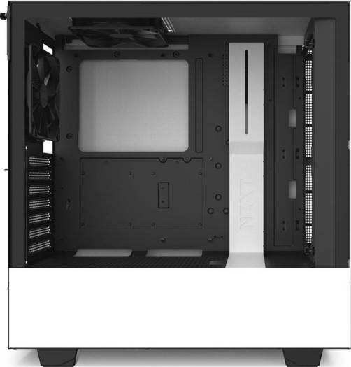 NZXT H510i Compact ATX Mid Tower PC Gaming Case Front I/O USB Type-C Port Vertical GPU Mount Tempered Glass Side Panel Integrated RGB Lighting Water-Cooling Ready Black White | CA-H510i-W1