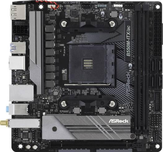 ASRock B550M-ITX/ac AMD, 2DDR4, 4SATA3,G Socket AM4 Motherboard | 90-MXBDH0-AOUAYZ