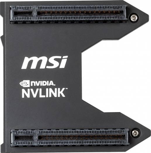 MSI GeForce RTX NVLink GPU Bridge SLI Graphics Card Bridge (2-way SLI MSI GeForce RTX series graphics cards on the 1st and 4th slot) | 914-4460-001