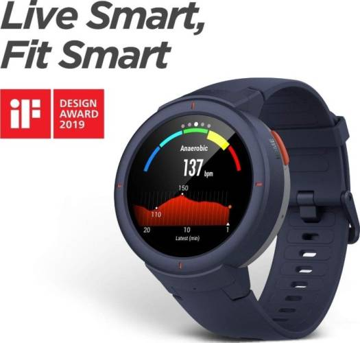 Xiaomi Amazfit Verge Smartwatch with Alexa Built-in, Answer Phone Calls, IP68 Waterproof - Blue   A1811