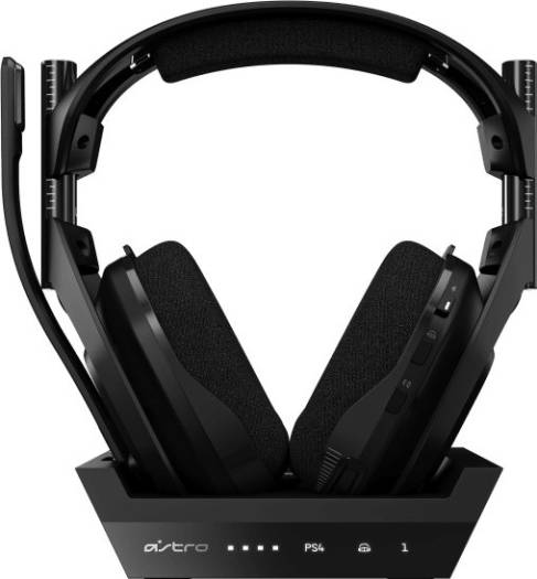 ASTRO Gaming A50 Wireless Headset, Base Station Generation 4 with Dolby Audio, Compatible with PS4, PC, Mac - Black   939-001676