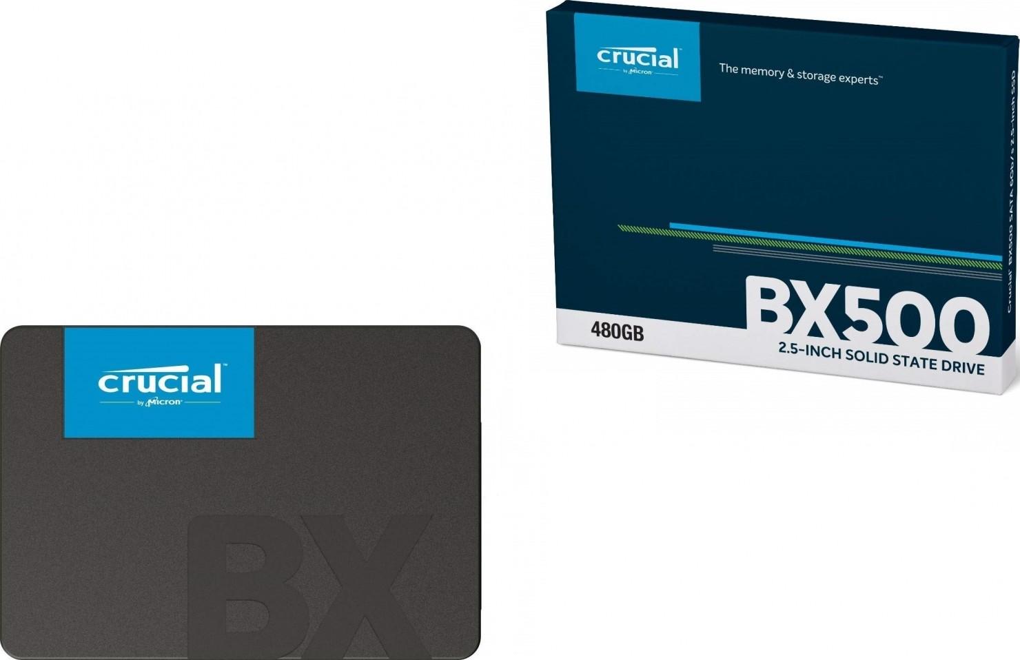 Crucial BX500 480GB 3D NAND SATA 2 5-inch Internal SSD   CT480BX500SSD1