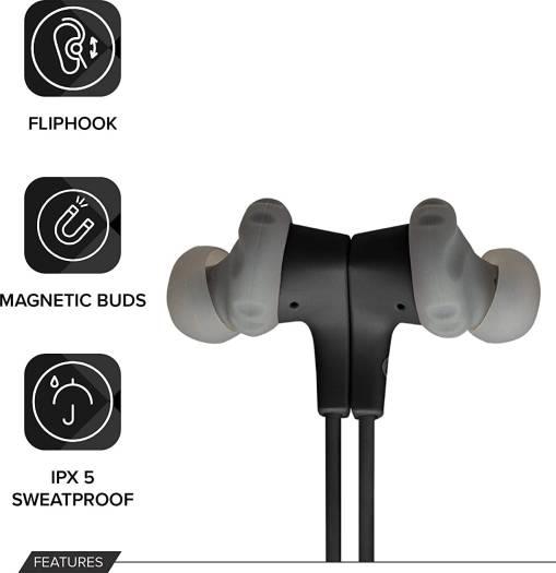 JBL Endurance Run BT Sweat Proof Wireless in-Ear Sport Headphones - Black   ENDURRUNBTBLK