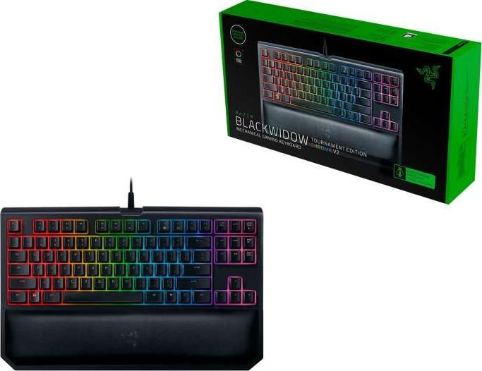 Razer Blackwidow Tournament Edition Chroma V2 Mechanical Gaming Keyboard Green Switch Clicky