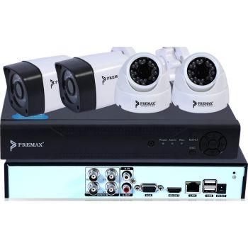 Premax 1.3 Mega Pixel 4-Channel AHD DVR (Digital Video Recorder Kit) | PM-DVRKIT134