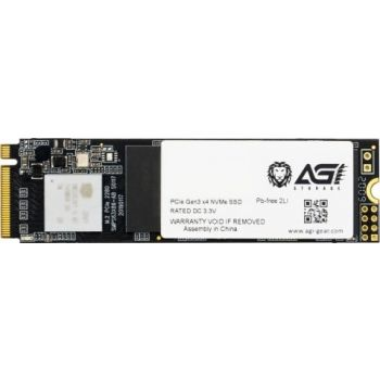 AGI AI218 2TB PCIe, 3D TLC, M.2 2280, PCIe Gen 3x4, Read / Write 3499 / 3075 MB/s, Solid State Drive SSD | AGI2T0GIMAI218