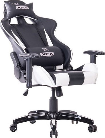 Xfx Entry Gt200 Faux Leather Gaming Chair Black White