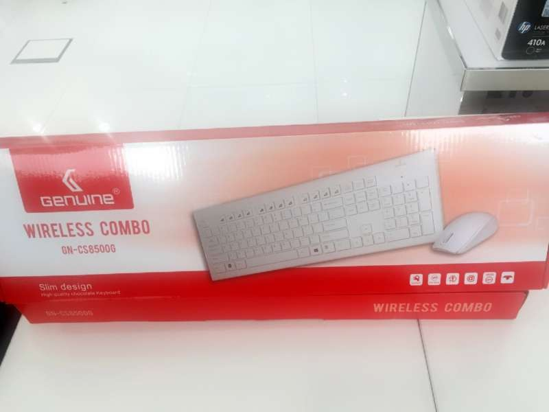genuine gn cs8500g wireless keyboard and mouse combo white gn cs8500g buy best price in uae. Black Bedroom Furniture Sets. Home Design Ideas