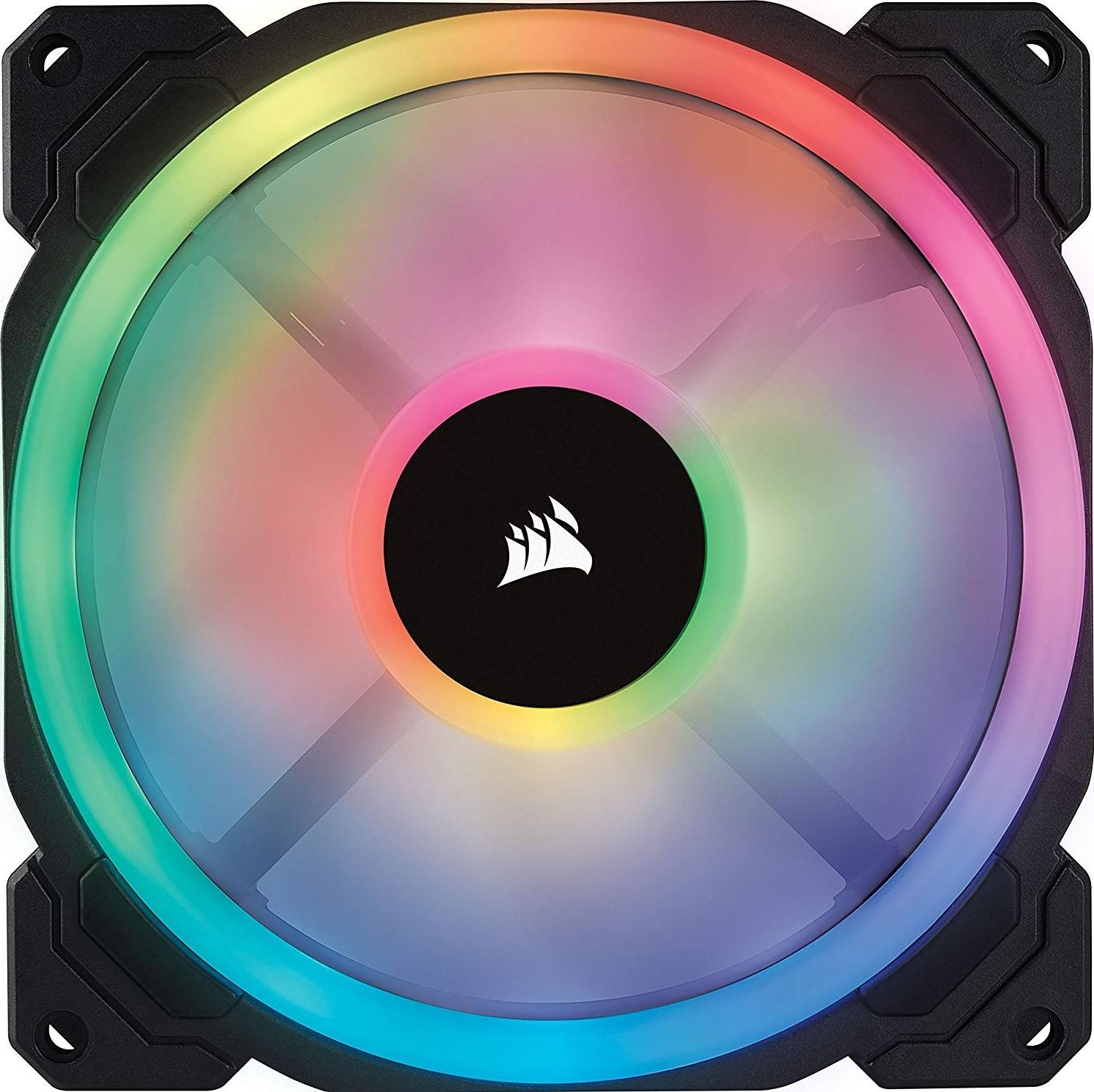 Corsair LL140 RGB 140mm Dual Light Loop LED PWM Fan 2 Pack With