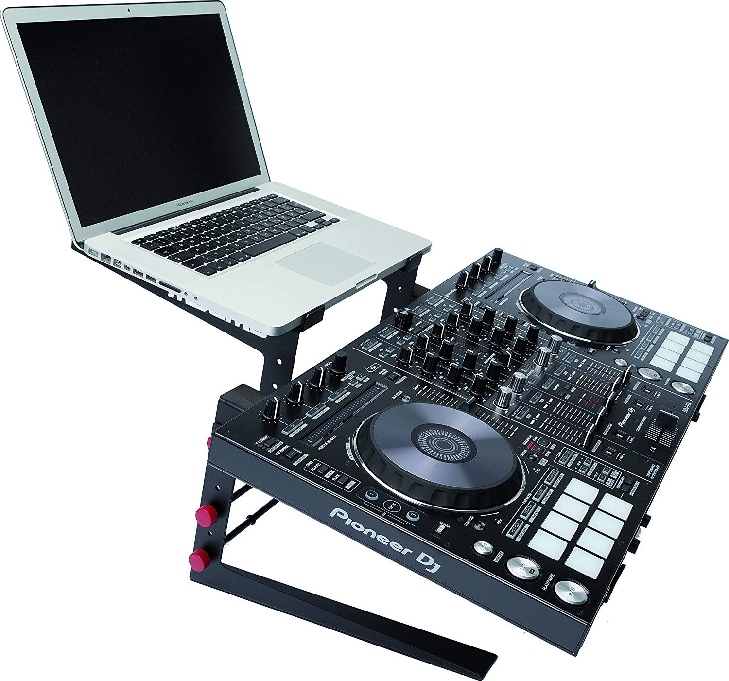 MAGMA Control Stand II for DJ Controller and Laptops, Accommodates a DJ  Controller and a Laptop at