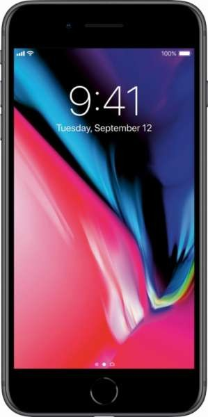 Apple iPhone 8 Plus 64GB Space Gray Unlocked with Screen Protector MQ8D2LL A