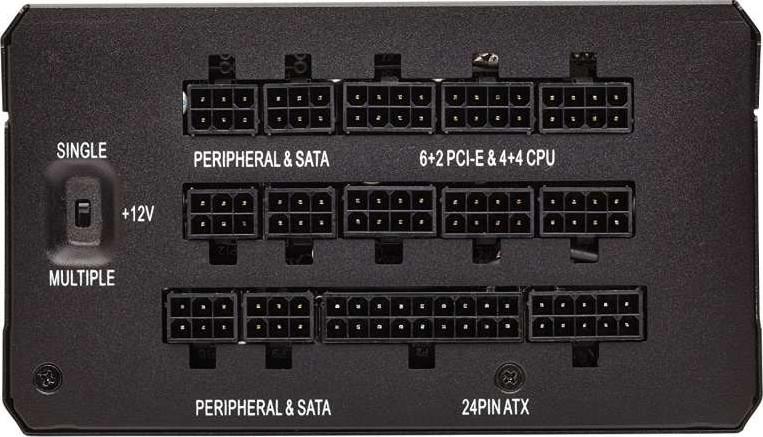 8ef7aa99638 Corsair HX1200 1200 W 80+ Platinum Fully Modular Power Supply Unit - Black  | CP