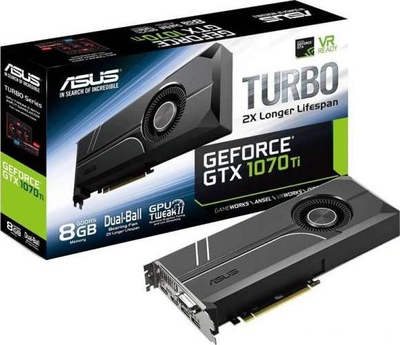 ASUS TURBO GeForce GTX 1070 Ti 8G Graphics Card (8GB GDDR5, 256-bit, P