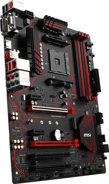 MSI B350 Gaming Plus AM4 AMD B350 SATA 6Gb s USB 3 1 HDMI ATX AMD  Motherboard 911 7A34 020