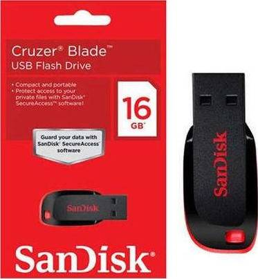 Sandisk Cruzer Blade 16GB USB Flash Drive | SDCZ50-016G-B35