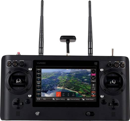 """Yuneec TYPHOON H Advance Drone- in color box ST16,CGO3+Camera+1 Battery(EU plug) , 25 min flying time, 1.6 KM flying distance, 4K, 7 """" screen 