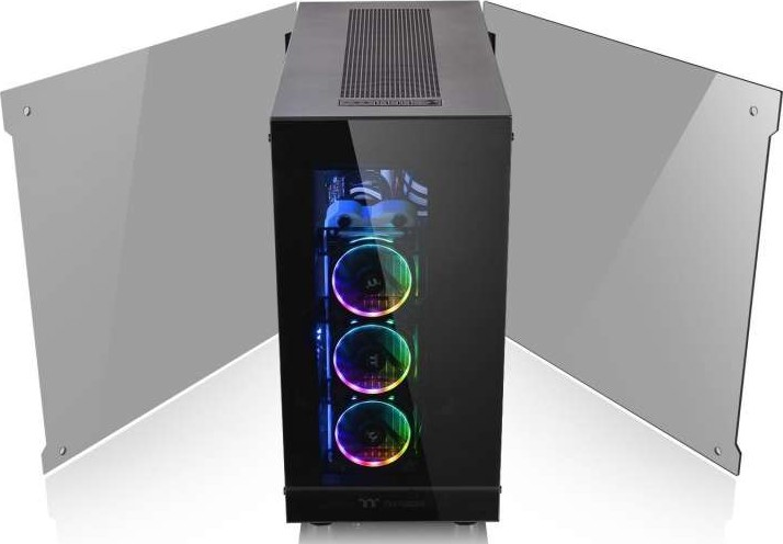 Thermaltake View 91 RGB PLUS Tempered Glass Vertical GPU Modular SPCC XL  ATX Gaming Super Tower Comp