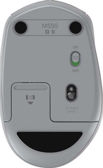 0869aff9f95 Logitech M590 Multi-Device Silent Wireless Mouse (Mid Gray Tonal) | 910-