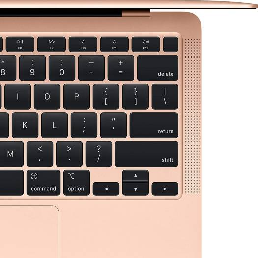 """Apple MacBook Air (2020), Apple M1 Chip with 8-core, 8GB Ram, 256GB SSD, 13"""" Retina Display English Keyboard with Backlight - Gold Color 