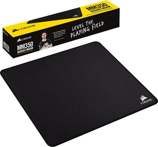 Corsair MM350 Champion Series Anti-Fray Cloth Gaming Mouse Pad – Medium 320 x 270 x 5 mm  (Black) | CH-9413520-WW