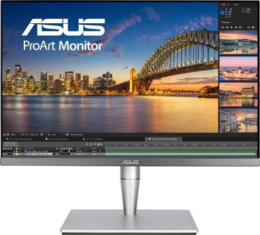 ASUS ProArt PA24AC 24.1 inch Monitor, 1920x1200 Resolution, Built-in Stereo Speakers, Signal Input HDMI(v2.0a) x2, DisplayPort 1.2, USB Type-C, DisplayHDR 400, Black | PA24AC
