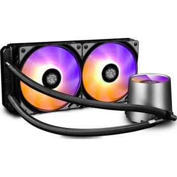 Deepcool Gamer Storm Castle 240 RGB AIO CPU Liquid Cooler   DP-GS-H12L-CSL240RGB