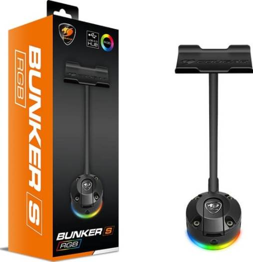 Cougar Bunker S RGB Headset Stand with Built-in USB Hub | CGR-XXNB-HS1RGB