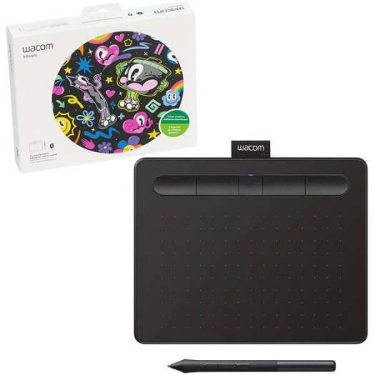 Wacom Intuos S Bluetooth Creative Pen Tablet – (Small, Black) | CTL-4100WLK-N