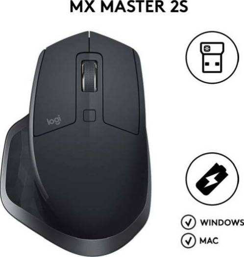Logitech MX Master 2S Wireless Mouse (Graphite) | 910-005139/910-005131