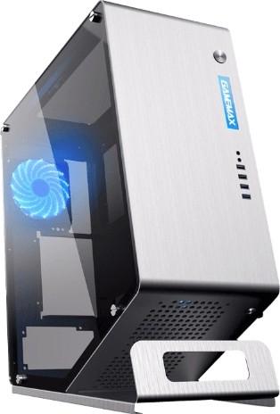 GAMEMAX WinMan Silver RGB gaming case, RGB light controller,  2xUSB2 0+2xUSB3 0+HDA, Side and Top by