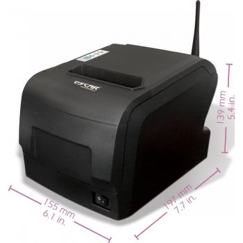 Oscar POS88W 80mm Wireless WiFi Thermal Bill POS Receipt Printer Wireless+USB+Ethernet with Auto-Cutter - Black | MRPOSC88900WB