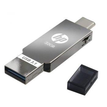 HP USB 3.1, Type C, OTG, 32GB, Flash Drive | HPFD304M-32