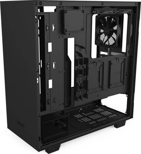 NZXT H510i Compact ATX Mid Tower PC Gaming Case Front I/O USB Type-C Port Vertical GPU Mount Tempered Glass Side Panel Integrated RGB Lighting Water-Cooling Ready Matte Black | CA-H510i-B1