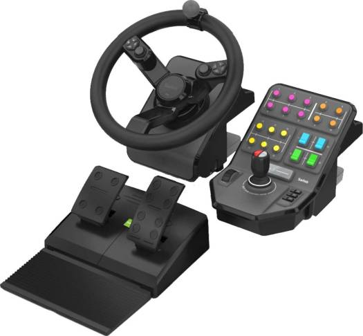 Logitech G Farm Simulator Heavy Equipment Bundle (Simulation Wheel, Brake Pedal, Side Panel Control Deck) | 945-000007