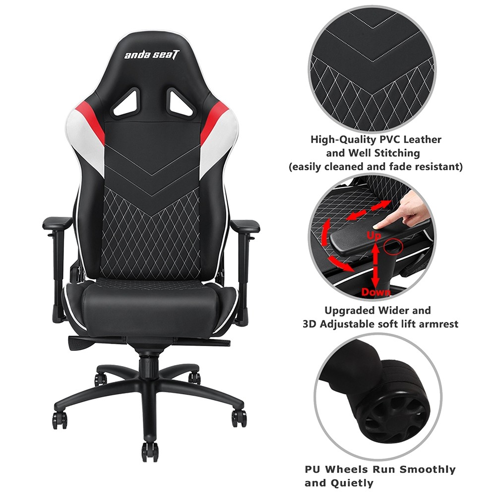 Incredible Anda Seat Assassin King Series Gaming Chair Frog Tray Big Lumbar Pillow Headrest Pillow 65Mm Caster Caraccident5 Cool Chair Designs And Ideas Caraccident5Info