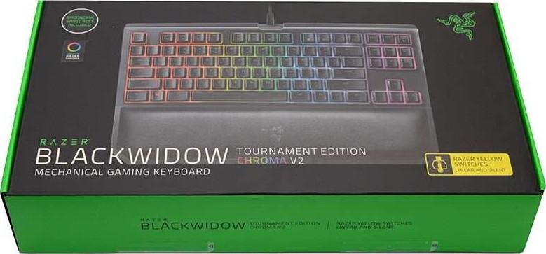 Razer Blackwidow Tournament Edition Chroma V2 Mechanical Gaming Keyboard Yellow Switch Rz03 02