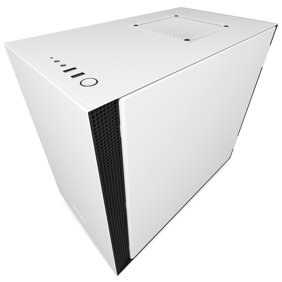 NZXT H200 Mini ITX Tempered Glass Window Compact PC Gaming Case Matte White  CA H200B W1