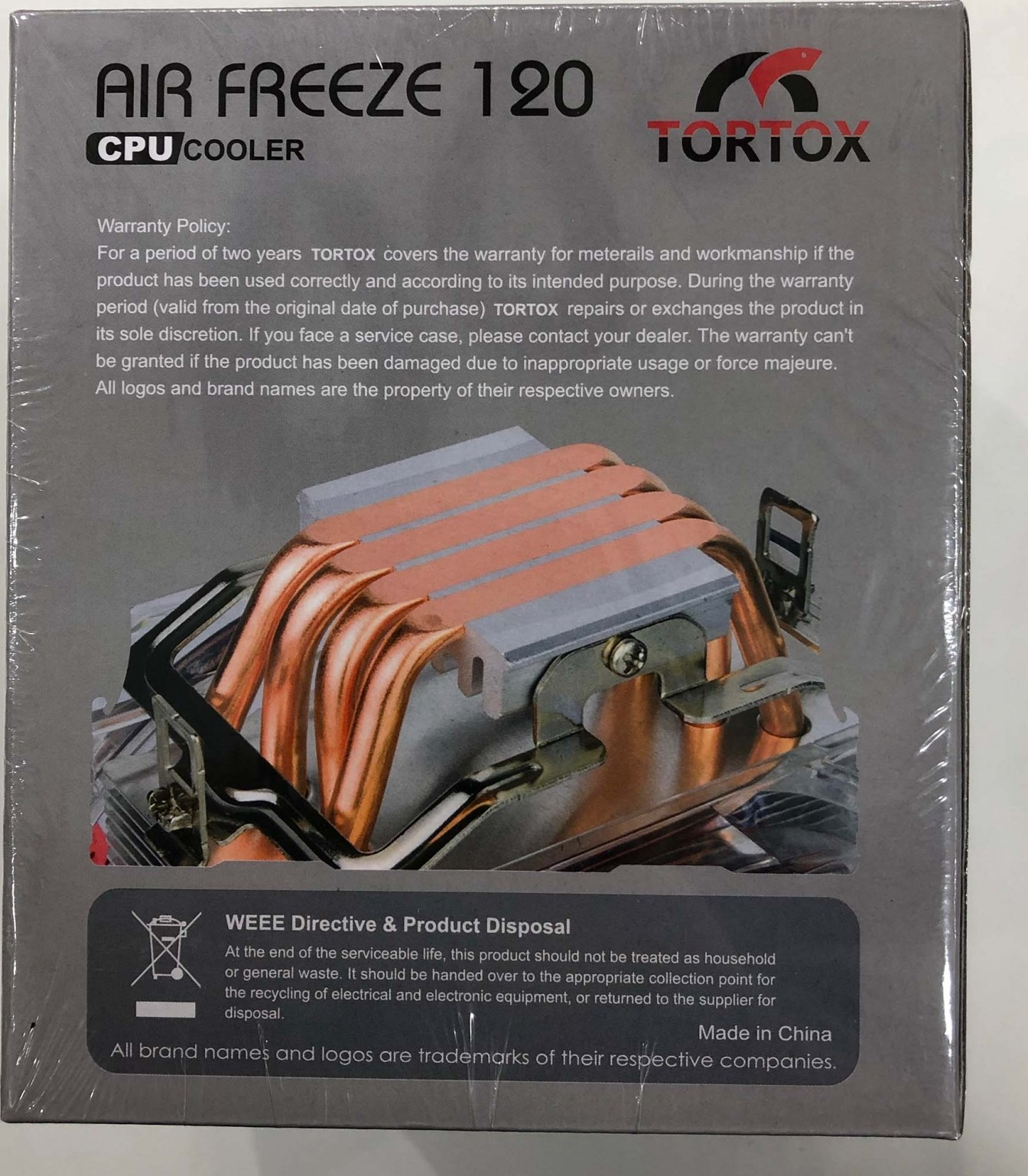 Tortox Air Freeze 120mm RGB CPU Cooler Heatsink for Intel and AMD Air  Freeze 120