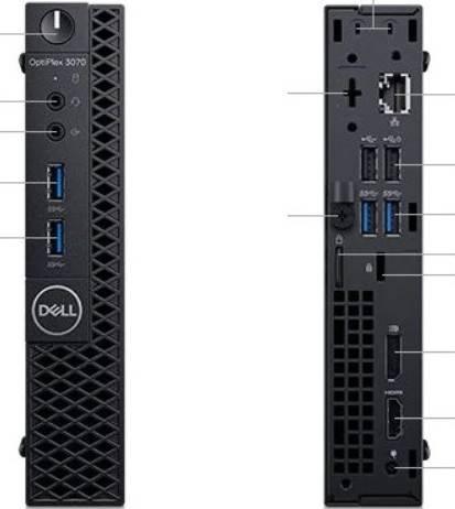 DELL OptiPlex 3070 MFF, Core i3-9100, 4GB RAM DDR4 2666, 1TB HDD, DVD RW, (No OS) | OptiPlex-3070-i3