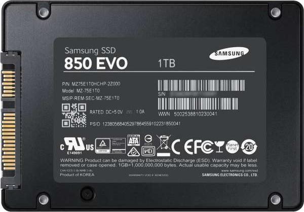 Samsung 1tb 850 Evo 2 5 Inch Sata Iii Internal Ssd Mz 75e1t0b Buy