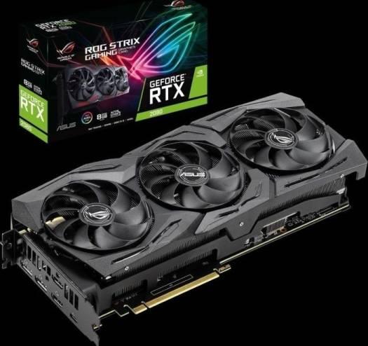 ASUS ROG Strix GeForce RTX 2080, ROG-STRIX-RTX2080-8G-GAMING, 8GB GDDR6, 256bit, PCIe 3.0 x16, 2x HDMI, 2x DP, USB-C | 90YV0C62-M0NM00