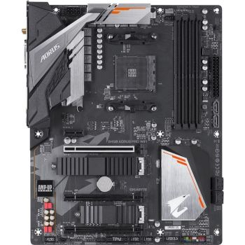 GIGABYTE B450-AORUS-PRO  - 3rd Gen AMD Motherboard with Hybrid Digital PWM, Dual M.2 with Dual Thermal Guards, Audio ALC1220-VB, RGB FUSION 2.0 | B450-AORUS-PRO