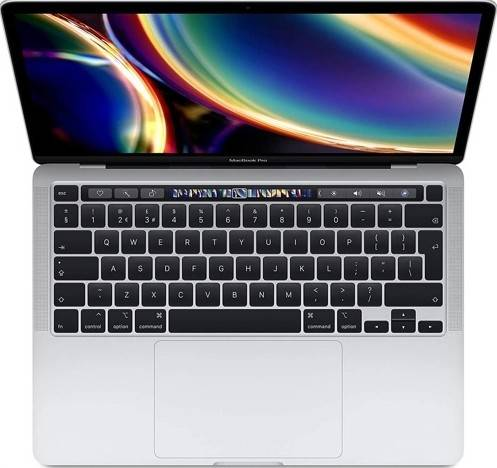 """Apple MacBook Pro (2020), M1 Chip, 8GB Ram, 256GB SSD, 13"""" Retina Display with True Tone, Touch Bar & Touch ID English Keyboard with Backlight - Silver Color   MYDA2"""