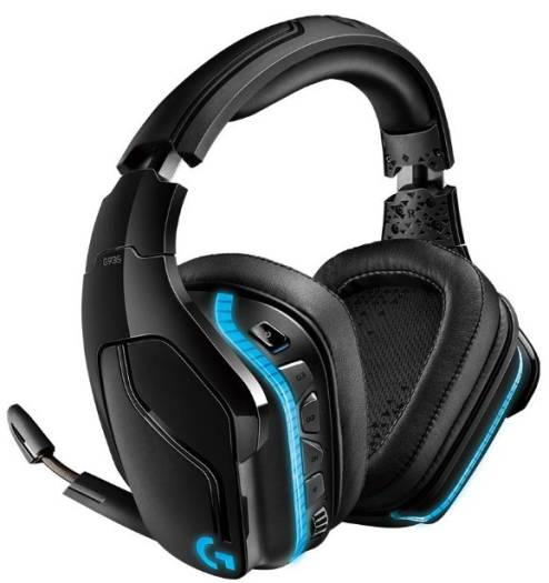 Logitech G935 PC Gaming Headset, Wireless 7.1 Surround Sound, LIGHTSYNC RGB lighting, Stereo Wired Compatible with PS4, Xbox One, Nintendo Switch | 981-000744