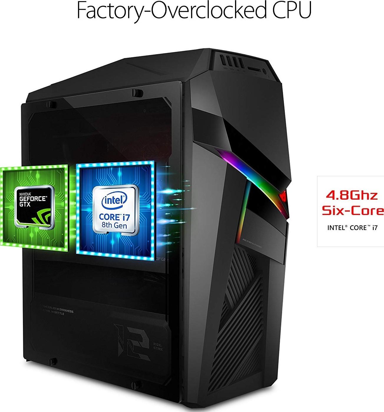 Asus ROG Strix Gaming PC Desktop GL12CM , Overclocked Intel Core i7 8700K,  NVIDIA GeForce GTX 1080 8